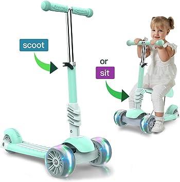 Amazon.com: FUTIN Scooters para niños, patinete con ruedas ...
