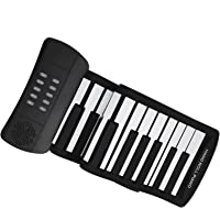 Electric Piano, Silicone 61 Key Soft Roll Up Piano Electronic Foldable for Holiday Gifts for Birthday Gifts for…