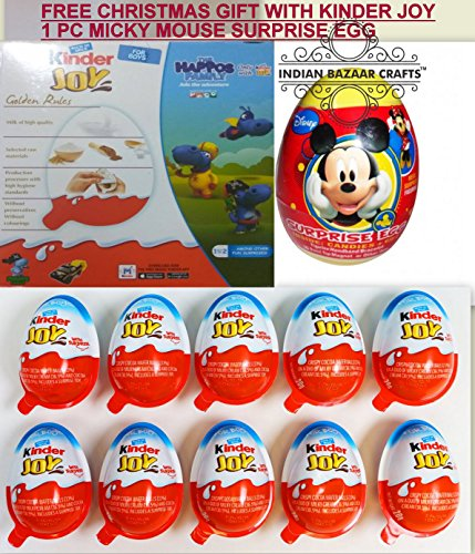 Chocolate Kinder Joy for Boys with Surprise Inside (24-Pack)Free Mickey Mouse EXPEDITED SHIPPING