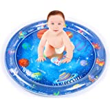 ZONBAR Baby Tummy Play Time Infant Inflatable Water Mat Toys for 3 6 9 Months Boys Girls Tummy Play Time Mats with Space Sola