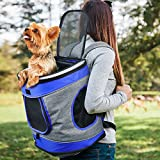 #8: Pawsse Pet Carrier Backpack for Dogs and Cats up to 15 LBS Comfort Dog Cat Carrier Travel Bag Breathable for Hiking, Walking, Cycling & Outdoor Use 16