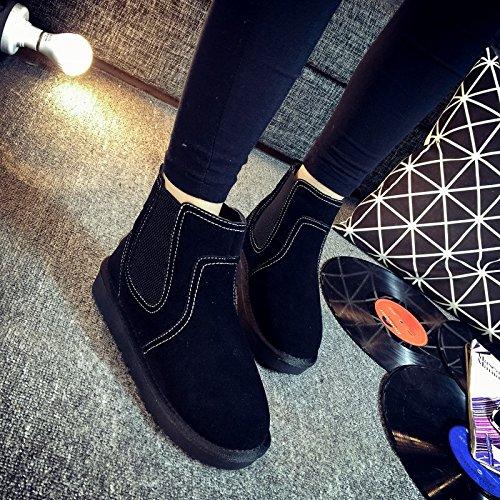 à de Cachemire en Tendon Chaud Chaussures Plus la Amoureux 120W Nouvelles Fin Bottes Neige Tube Winter du Plus de xie Low Couple 0wfAgPqqx