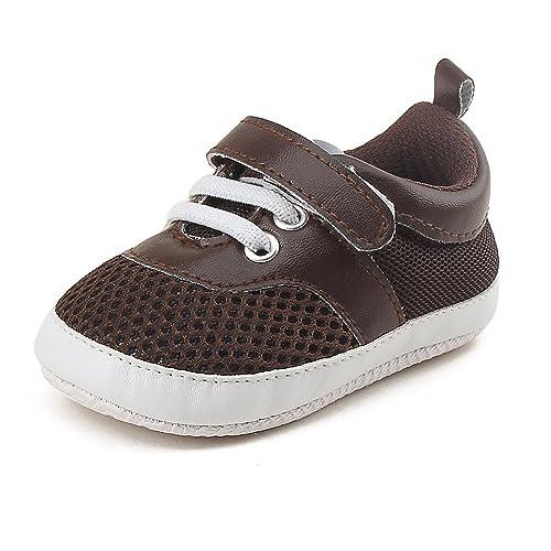 DELEBAO Zapatos Bebé Niño Zapatillas Deporte Bebe Primeros Pasos Calzado Recien Nacido con Malla Transpirable Zapatos Bebe