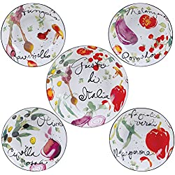 Certified International Corp 89233 Certified International Melanzana Pasta Set, Multicolored, 5 Piece