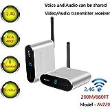 Measy AV2202.4GHz wireless AV trasmettitore e ricevitore audio video fino a 200m/201,2m