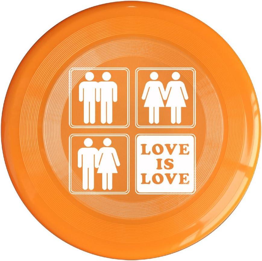 VOLTE Love Is Love Gay Marriage Orange Flying-discs 150 Grams Outdoor Activities Frisbee Star Concert Dog Pet Toys