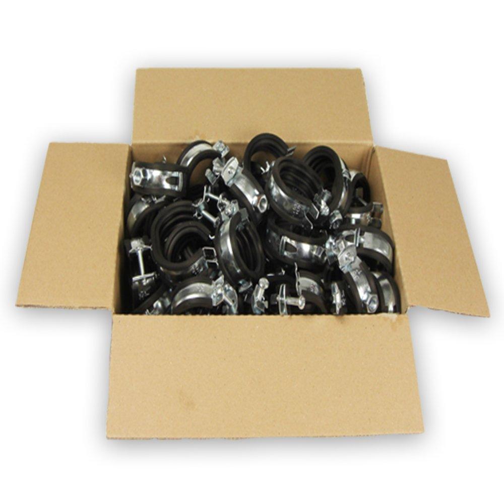 100 x Gelenkrohrschelle mit Kippschraube 15-19mm 1 VPE
