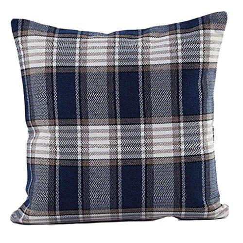 DZT1968® Classic Plaid Throw Pillow Cushion Case Cover Prot