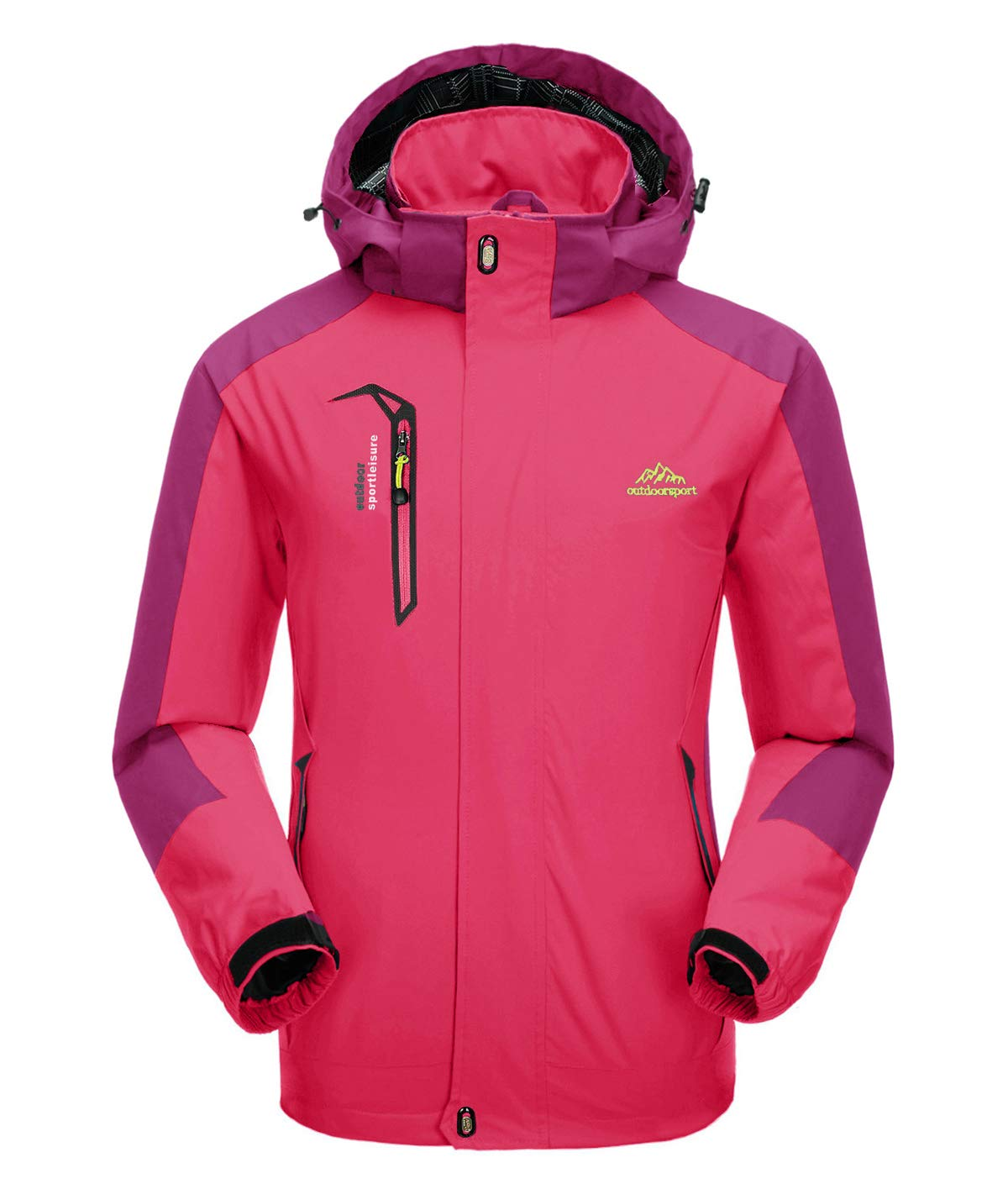 KEFITEVD Women's Waterproof Mountain Jacket Lightweight Outdoor Rain Jackets with Detachtable Hood FEIXUN KEF-59
