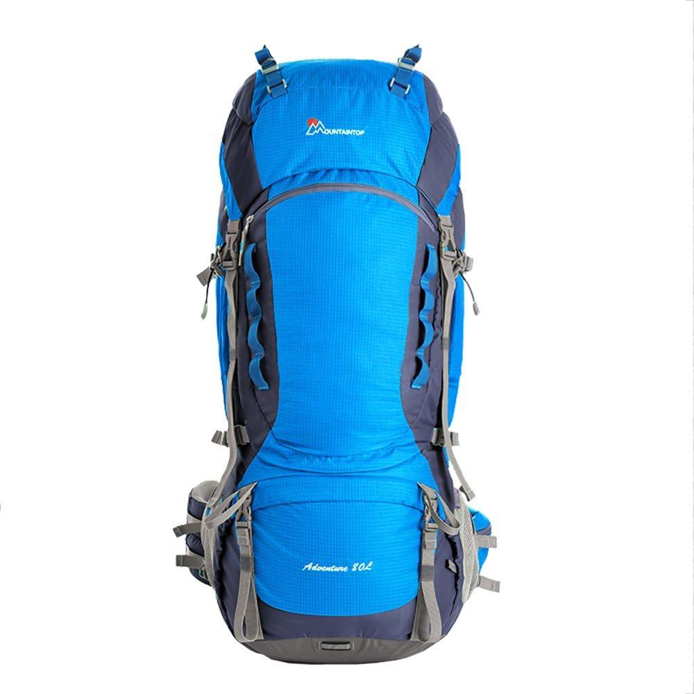 M5820 Mountaintop Grande 80L impermeabile Zaino di campeggio esterna Escursionismo viaggio zaino unisex Adventure Borsa