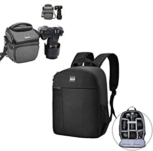 Zecti Camera Bag Backpack Waterproof Case Compatible for for Laptop and DSLR/SLR Accessories