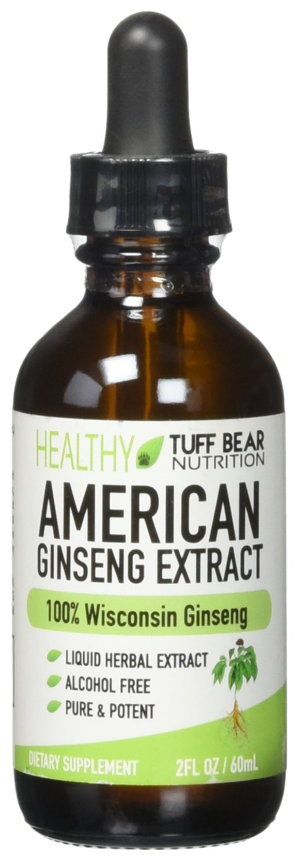 American Ginseng Extract, 2FL oz, BEST American Wisconsin Ginseng Extract, Made with 100