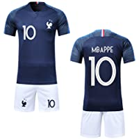 Garçon Ensemble de T-Shirt et Short Coupe du Monde France 2 étoiles Football