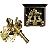 Brass Nautical Brass Sextant in Gift Box from Brass Nautical