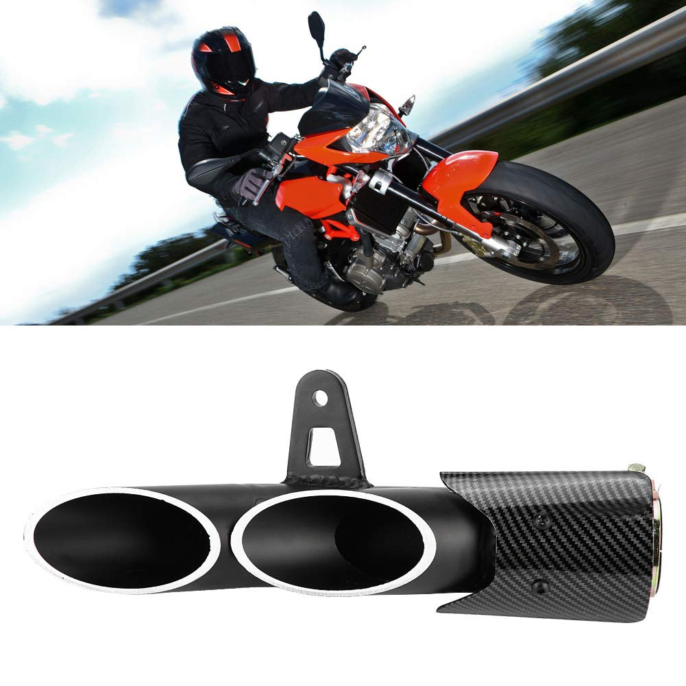 KIMISS 51mm Universal Glossy Black Motorcycle Slip on Exhaust Muffler Rear Pipe Tailpipe for R6 MT-03 MT-07 MT-09 CBR600RR CBR1000RR GSX-R600//R750 ER-6N Z800 Z900 Z650