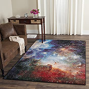Safavieh Galaxy Collection GAL109P Abstract Watercolor Purple and Multi Area Rug (3' x 5')