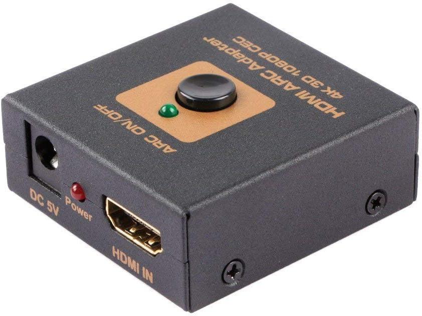 Adaptador HDMI ARC. HDMI al convertidor de HDMI + ARC. ARC (canal de retorno de audio) compatible con el antiguo receptor de AV que no admite ARC: Amazon.es: Electrónica