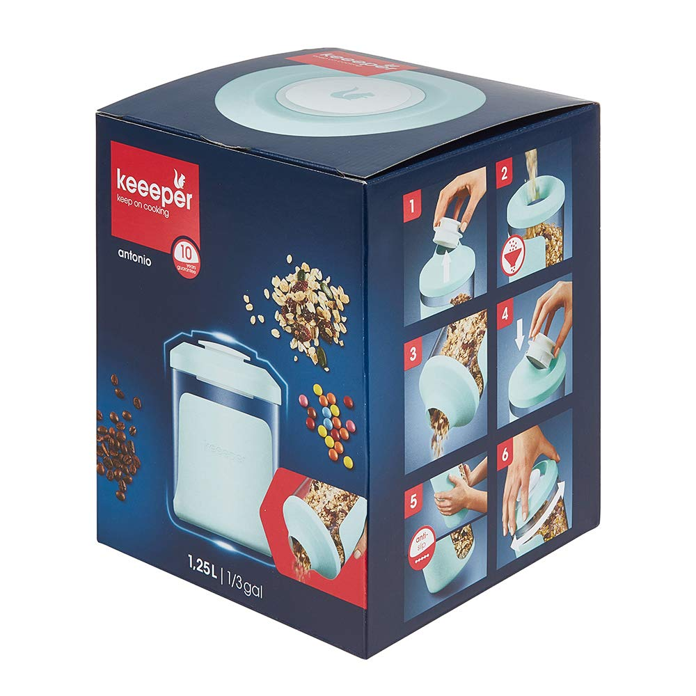 White keeeper Dispensadores de Cereales 11.5 x 7 x 21 cm PE//PS