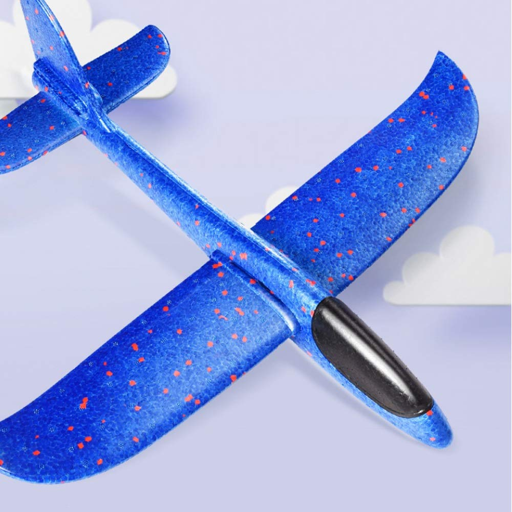 Kikioo 48CM Manual Throwing Foam Plane, Dream Airoplane Gliders, Inertia Flying Aircraft, Manual Circling Functions Flying Gifts For Kids, 3 Year Old Boy,Outdoor Sport Game Toys, Birthday Party Red by Kikioo (Image #3)