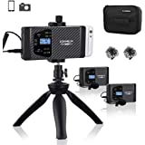 comica CVM-WS60 Combo Wireless Dual Lavalier Lapel Microphone System with UHF 12 Channels