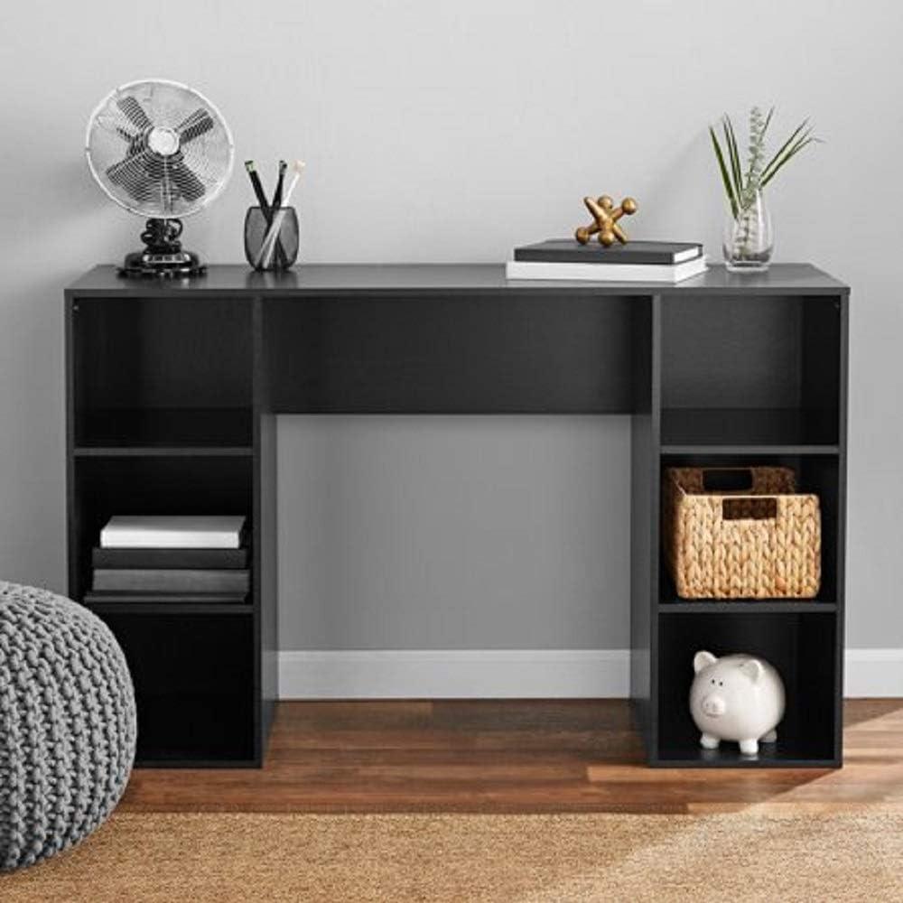 Best Mainstays 6 Cube Storage Computer Desk True Black Oak Your Kitchen
