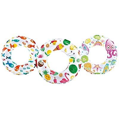 "Intex Recreation 59230EP Lively Print Swim Ring 20"", assorted designs: Toys & Games"