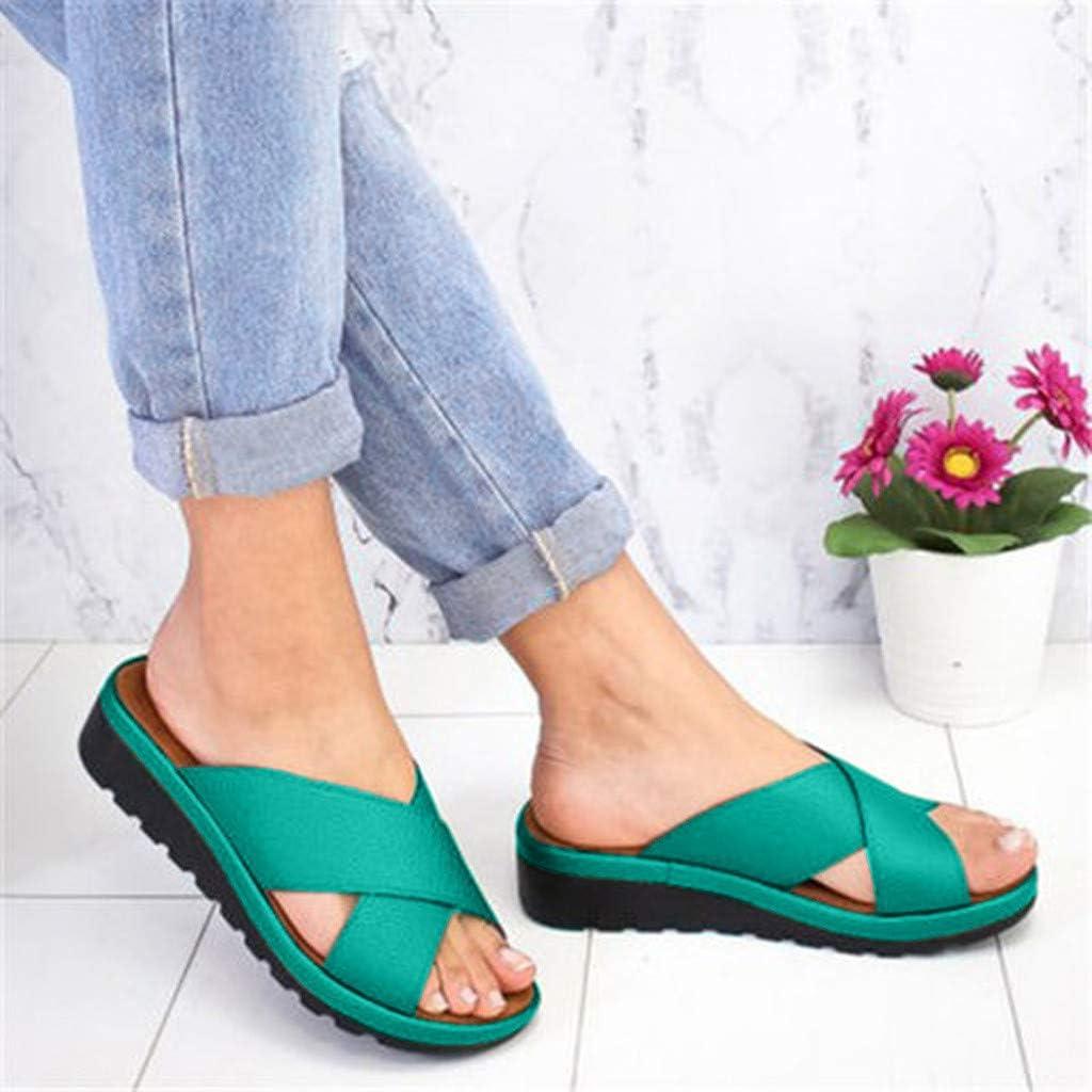 ALOVEMO Platform Sandal Shoes for Women Summer Beach Travel Shoes Comfortable Fashion Slides Light Weight Thong Sandals