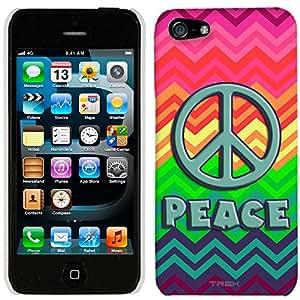 iPhone 5 Peace on Neon Chevron Rainbow Case
