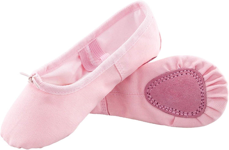 Canvas Upper /& Leather Sole Ballet Slippers Toddler//Little Kid//Big Kid//Women Ballet Dance Shoes for Girls Koolen Ballet Shoes