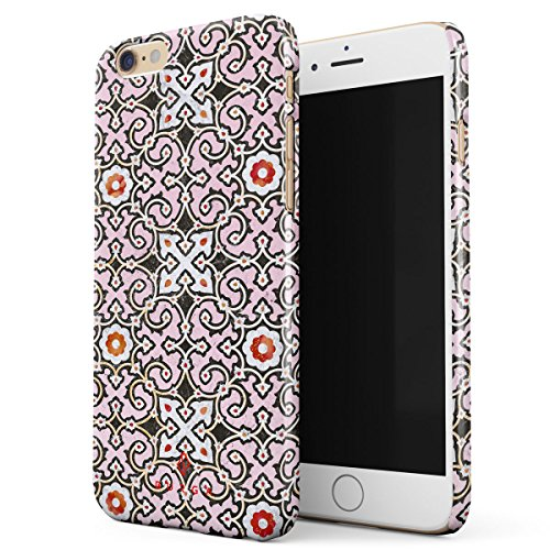 BURGA, Exotic Spices Pink Colorful Moroccan Tiles Pattern Marakesh Mosaic Thin Design Durable Hard Shell Plastic Protective Case For Apple iPhone 6 Plus / 6s Plus - Mosaic Spice