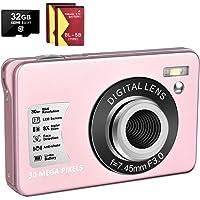 1080P Digital Camera 30MP Camera Compact Camera 2.7 inch Pocket Camera,8X Digital Zoom Rechargeable Small Digital…