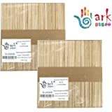 2 x 50 Lollipop Craft Sticks (Natural or Colored) (Natural)