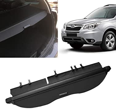 Tonneau Trunk Cargo Cover Security Shield For 14 18 Subaru Forester Manual Door Auto Parts Accessories Car Truck Interior Cargo Nets Trays Liners
