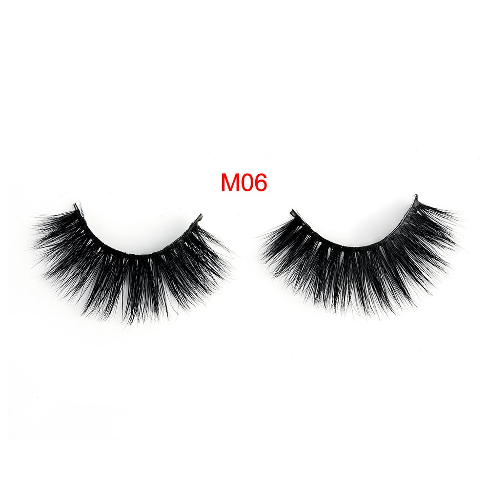 3D Siberian False Eyelashes Fur 1Pair Dense Multi-Layer Thick Long Black Eye Lashes Beauty Makeup Extension Tools Style M06 TOPBeauty