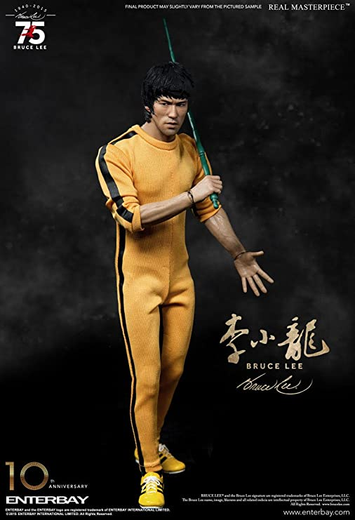 Amazon.com: Enterbay Bruce Lee: 75th aniversario obra ...