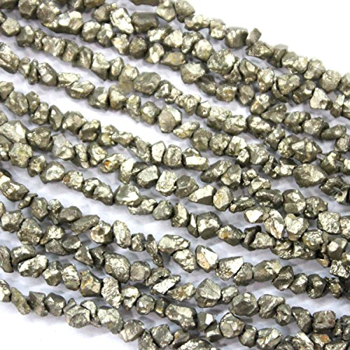 Pyrite Beads - Natural Rough Pyrite Nuggets 3-4mm Gemstone Beads Jewerly Making Findings