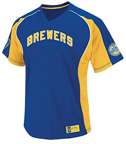 super popular f8273 ac61b Amazon.com : VF Milwaukee Brewers MLB Mens Cleanup Hitter ...