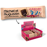 Michel et Augustin 4 Cooki Squares Sittin'in A Row Dark Chocolate, 0.55 Ounce (Pack of 18)