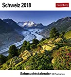 Schweiz - Kalender 2018: Sehnsuchtskalender, 53 Postkarten