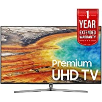 Samsung 55 UHD 4K HDR LED Smart HDTV Black 2017 Model (UN55MU9000) with 1 Year Extended Warranty