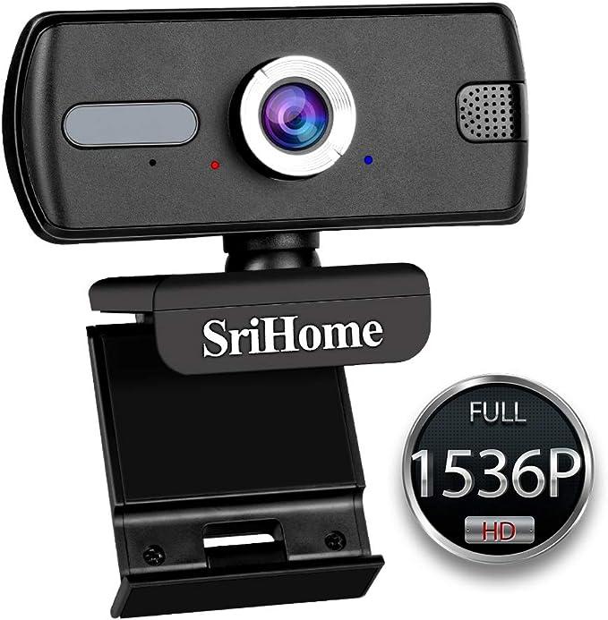 LUROON 1536P Cámara Web | Webcam PC con Microfono | Cámara de la ...