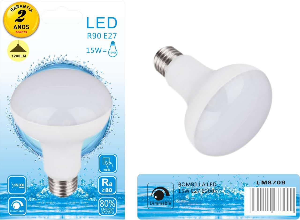 Leduni Bombilla LED E27 R63 9W / R90 15W interior Mejor precio bajo consumo alta alidad (3000K LUZ CALIDA, 12W): Amazon.es: Iluminación