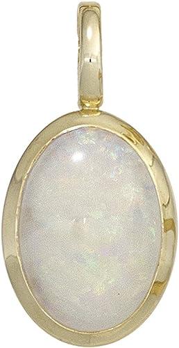 Anhänger mit Opal 333 Gold Gelbgold oval Opalanhänger Halsschmuck Damen