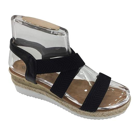 53a4399a991994 Damen Sandalen Plateau Sandaletten HIgh Heels Metallic Glanz Riemchen  ST303  Amazon.de  Schuhe   Handtaschen