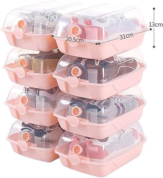 ZR- Plástico Transparente Caja De Almacenamiento De Zapatos ...