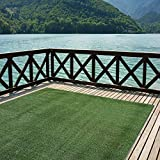 Indoor/Outdoor Turf Rugs and Runners in Green 12' X 8' Low Pile Artificial Grass in Many Custom Sizes and Widths with Finished Edges with Binding Tape