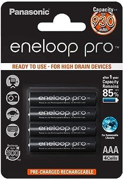 Panasonic Eneloop SY3052609 - Pack 4 Pilas Recargables, AAA: Amazon.es: Electrónica