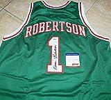 OSCAR ROBERTSON Signed Milwaukee Bucks JERSEY #1 + PSA COA