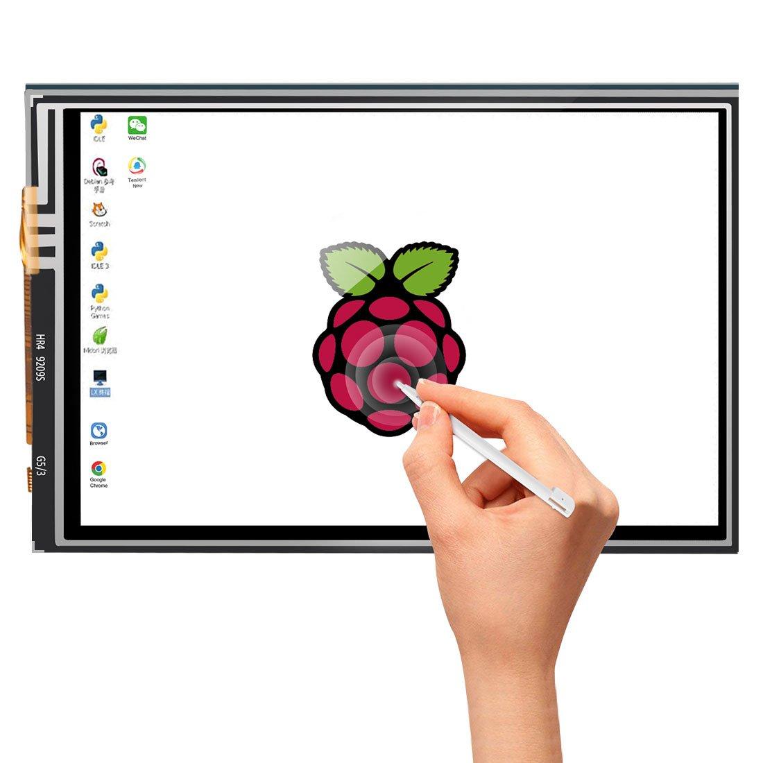 Dorhea Raspberry Pi 3 Model B TFT LCD Display Kit,3.5 inch 480x320 TFT Touch Screen Moudle with Protective Case Cooling Fan and Heatsinks for Raspberry Pi 3 B+,Pi 3 B, Pi 2, Pi Zero, Pi B+ by Dorhea (Image #3)
