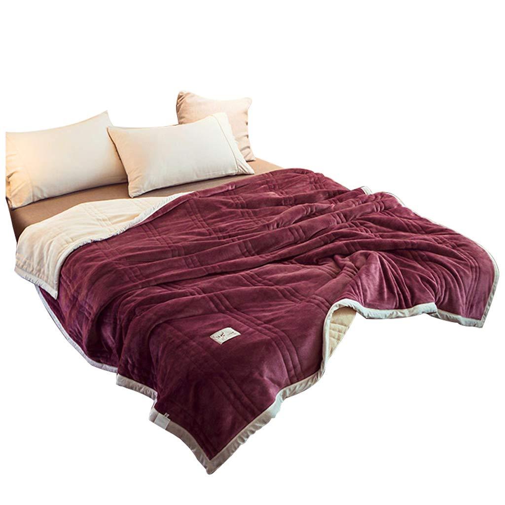 毛布の掛け布団冬の暖かいブランケットNET赤い珊瑚のベルベット毛布ダブルネルの男性のソファーレジャーブランケット (サイズ さいず : 200 * 230センチメートル) B07JX85Q9Y  200*230センチメートル